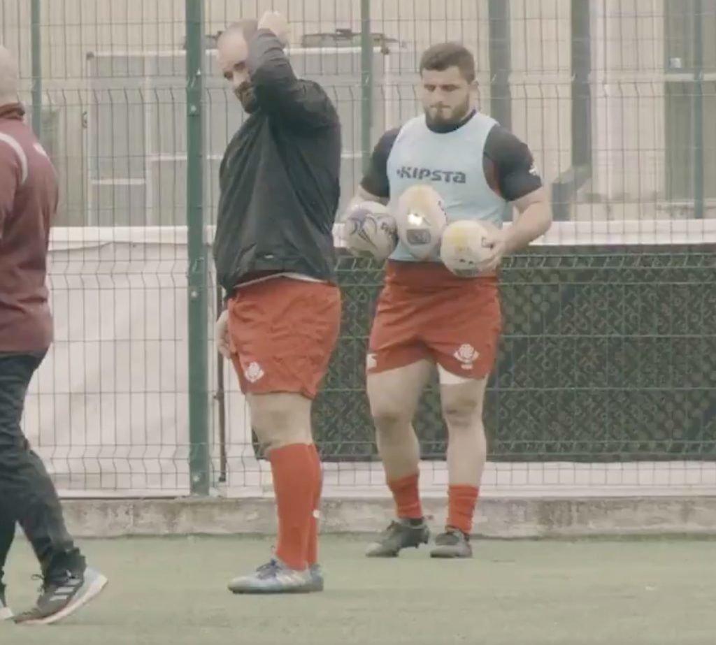 TEKKERS: Georgian prop is secretly filmed as he reveals hands of a fly-half
