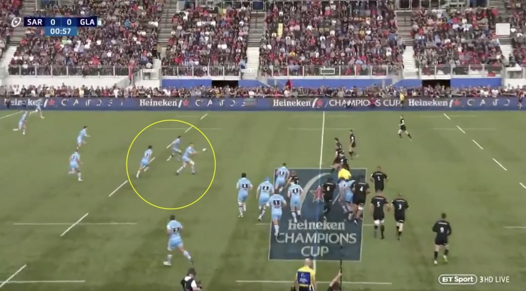 WATCH: Glasgow completely stun Saracens' defence with blistering attack in opening 2 minutes