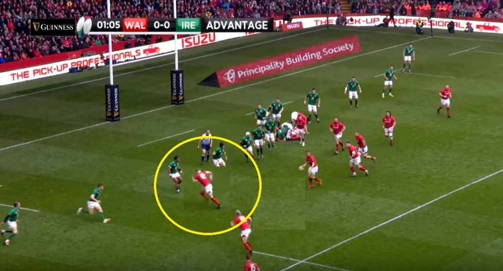 FOOTAGE: Replays show Hadleigh Parkes may have been offside for first try