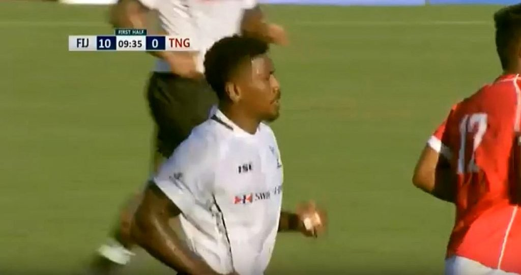 VIDEO: Fiji Warriors 9's monster 90 metre touchfinder show he's ready for call-up