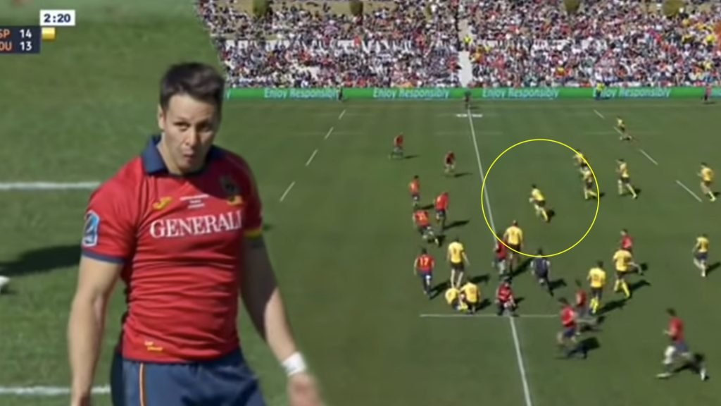 WATCH: Romanian 10 throws outrageous floating pass, dumfounding 87% of Spain