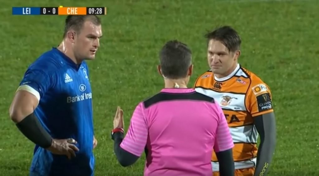 FOOTAGE: Nigel Owens' explains why he didn't red card Ox Nche for horror hit