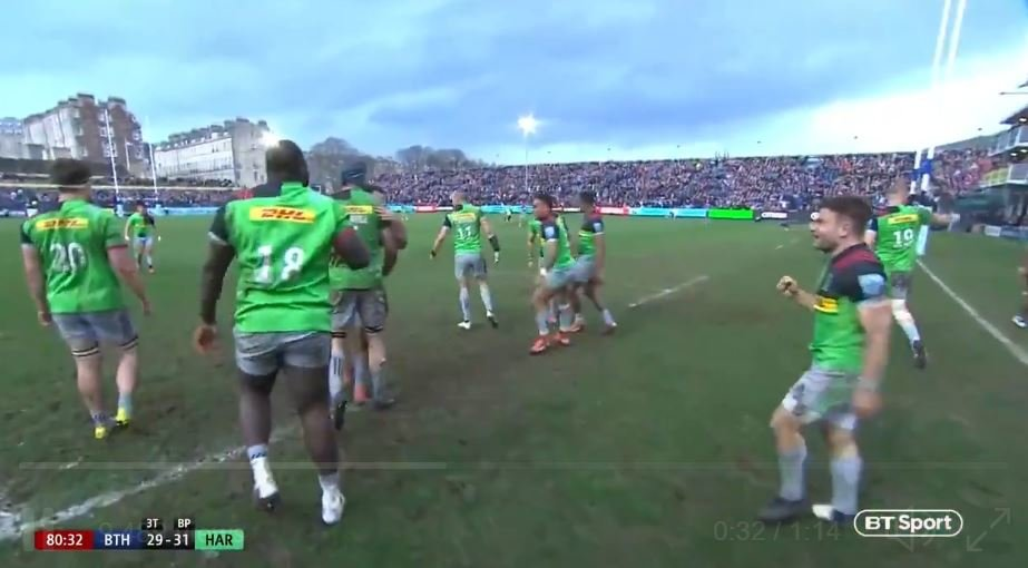 FOOTAGE: Untold scenes at the Rec as Harlequins steal 81st minute win