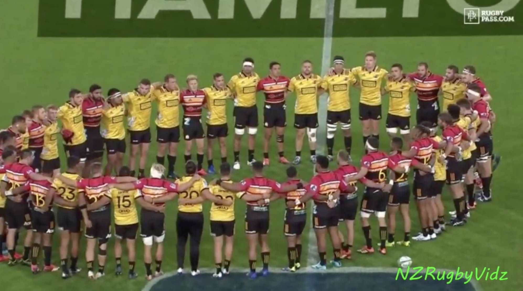WATCH: Touching moment as both teams unite to remember tragedy in Christchurch