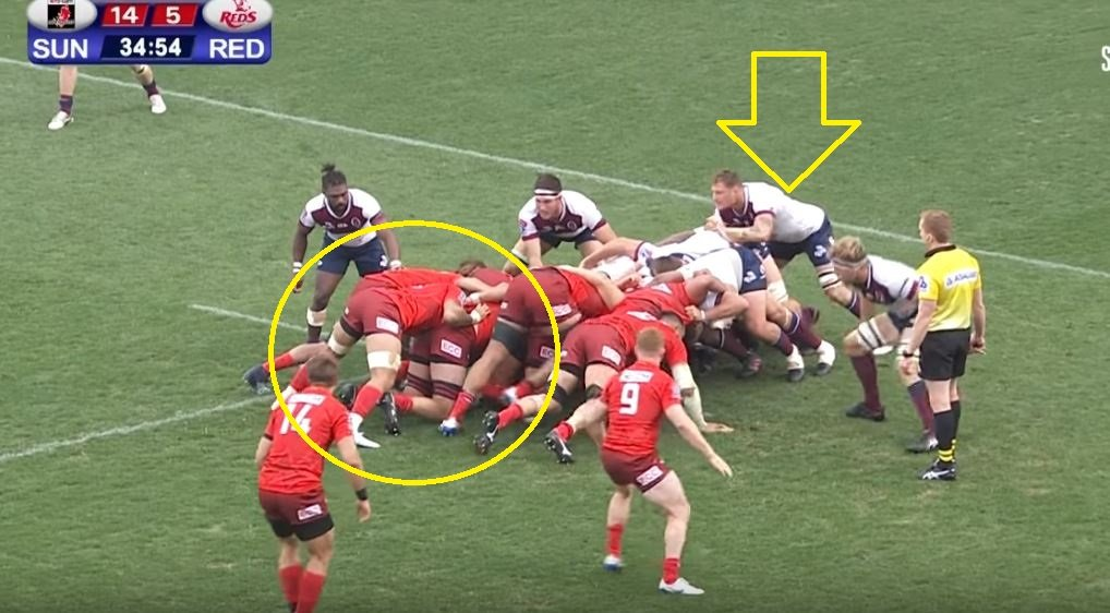 FOOTAGE: Scott Higginbotham somehow stops certain try by manhandling 108kg No.8