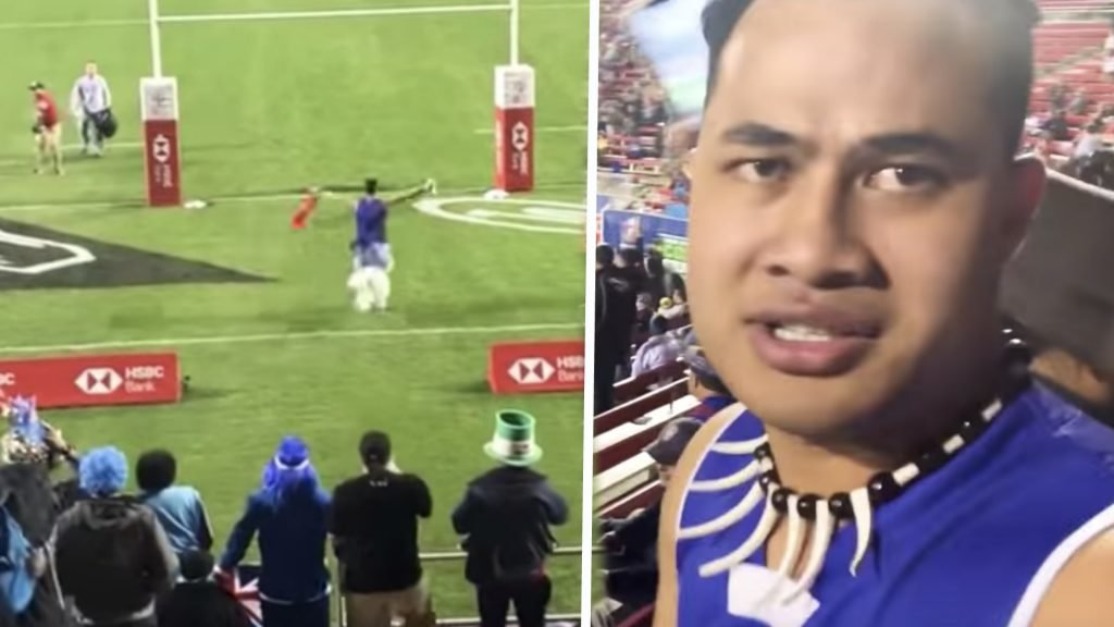 WATCH: Pacific Islander documents himself running onto the pitch from the crowd