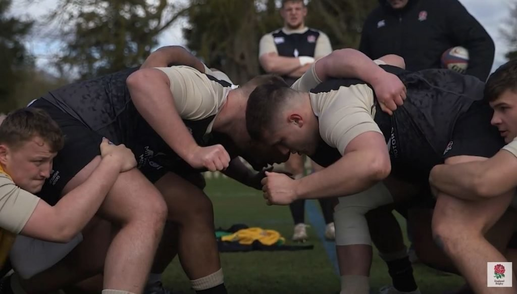 FOOTAGE: The Frenchman who masterminded England U20s evil scrum this year