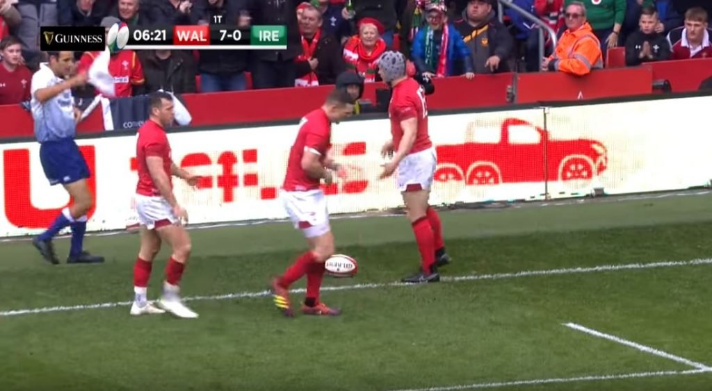 FOOTAGE: An early guts and glory trysaver set the tone for Wales' demolition of Ireland