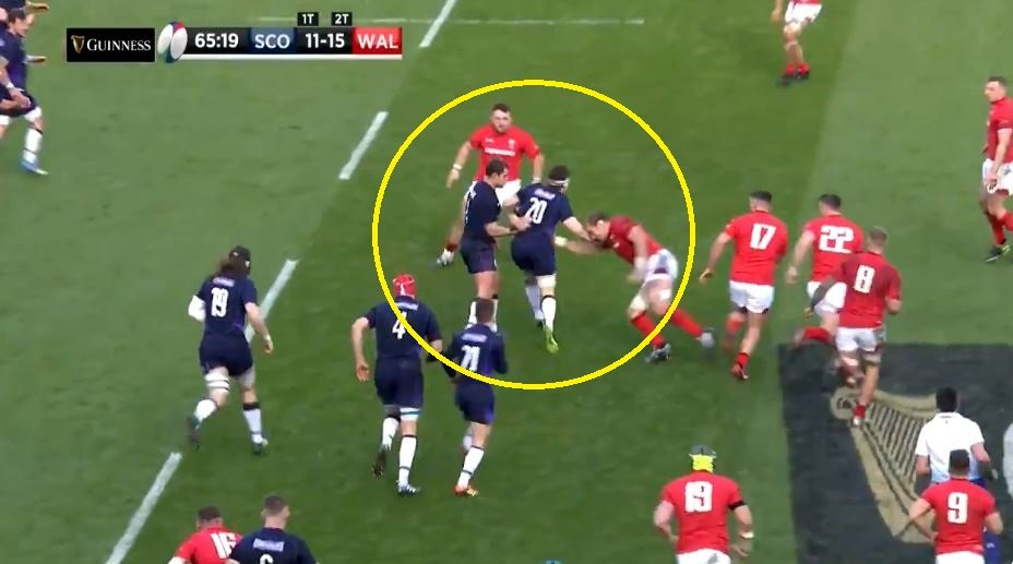 FOOTAGE: Hamish Watson goes beast mode seconds after coming on for Scotland