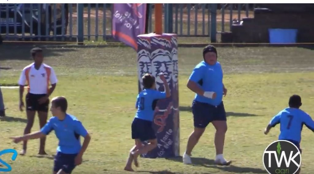 FOOTAGE: Man prop unleashed against mere children and he can't be stopped