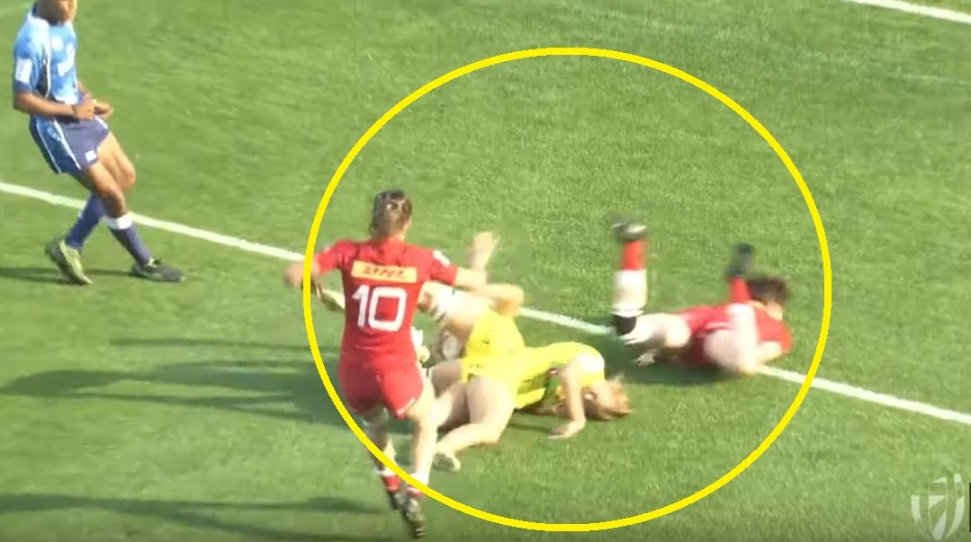 FOOTAGE: Aussie women's player demos when not to place the ball