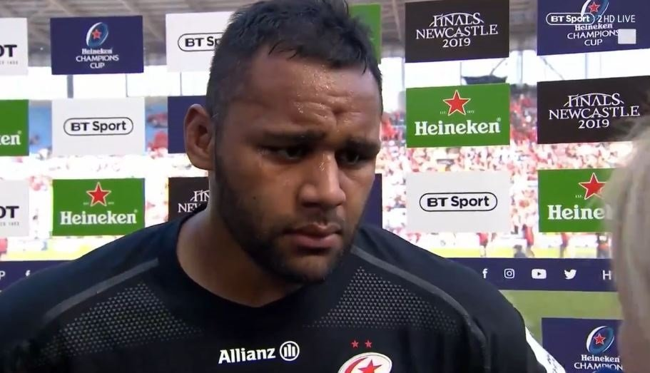 FOOTAGE: 'I believe in what I believe in' - Billy Vunipola's MOTM interview