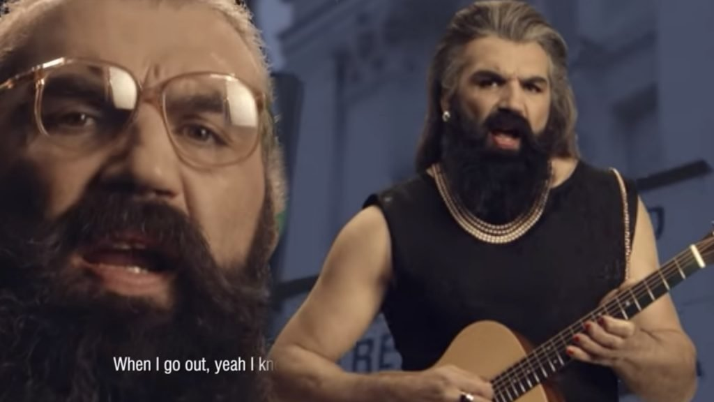 WATCH: Sebastian Chabal has released a music video, you won't see him the same again