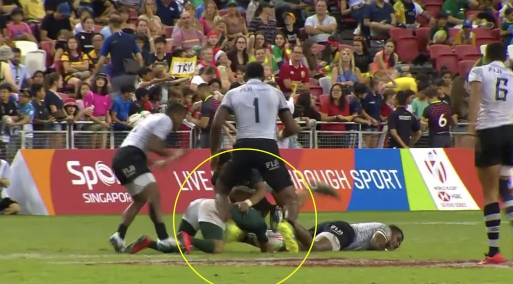 WATCH: Fijian 7s star puts in MONSTER hit on Blitzbok victim