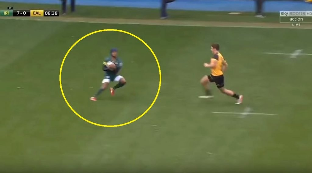 FOOTAGE: London Irish's Fijian prodigy beats six defenders in individual solo try of the season