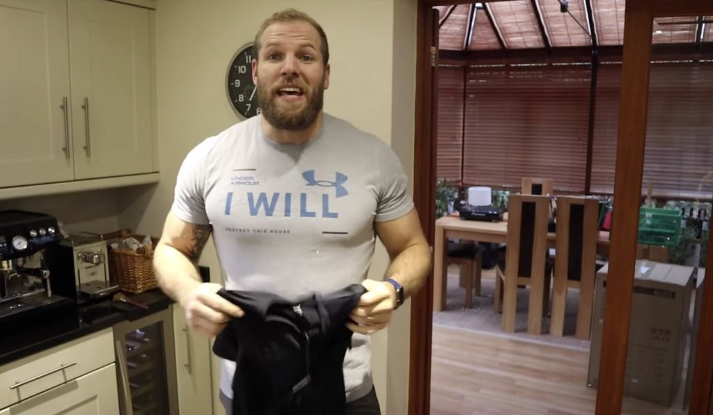 "WATCH: Fans bemused as James Haskell tries to promote £45 ""mineral infused"" training top"