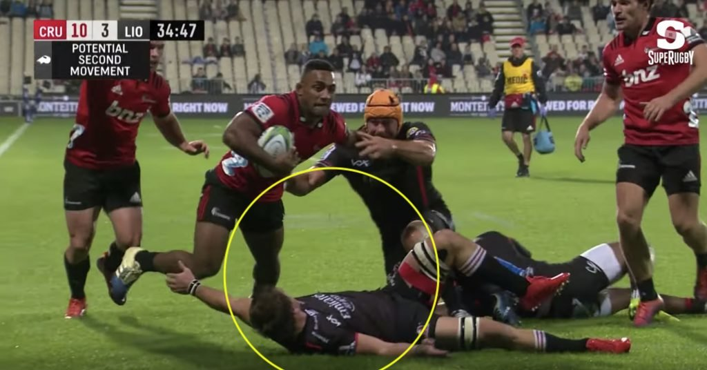 WATCH: Crusaders winger absolutely FLATTENS Kwagga Smith in try scoring rampage