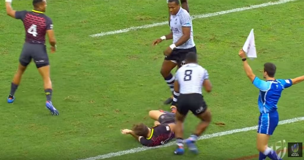 FOOTAGE: Length of the pitch Fiji score will live long in England nightmares
