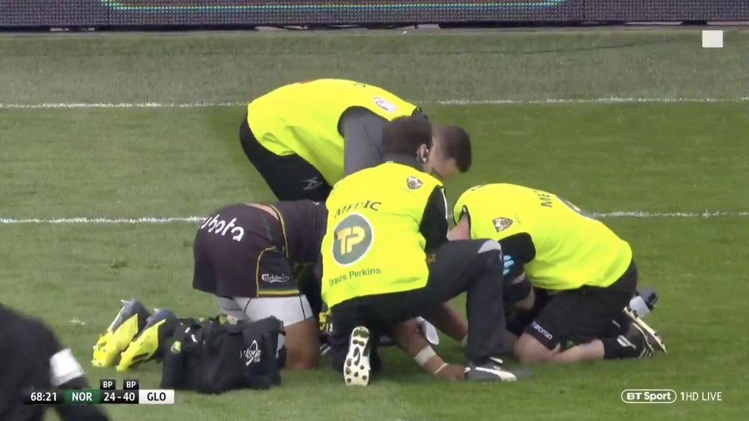 WATCH: ANOTHER medic is taken out in the middle of play during a match in brutal fashion