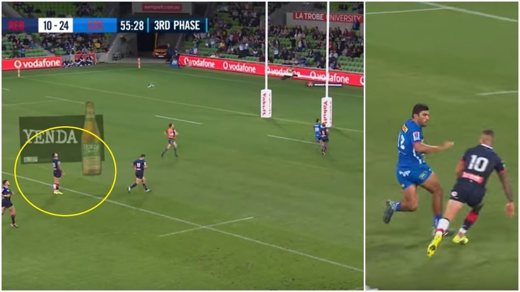 FOOTAGE: Quade Cooper ***** up twice with defensive lapses for consecutive Stormers tries