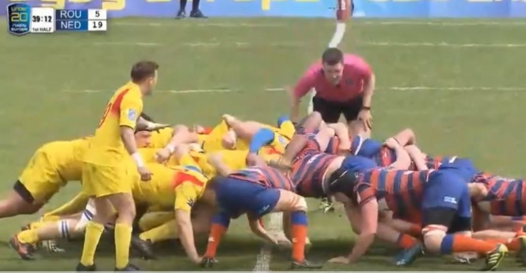 FOOTAGE: The dramatic tranformation of the Netherlands U20s scrum in the space of one year