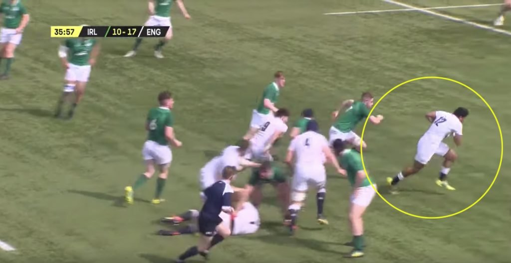 WATCH: Joe Cokanasiga's brother is ruining lives for the England Under 18's