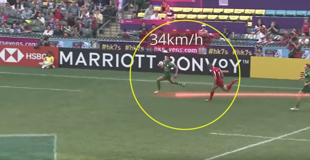 WATCH: New video reveals the RIDICULOUS speeds that 7s player racked up this weekend