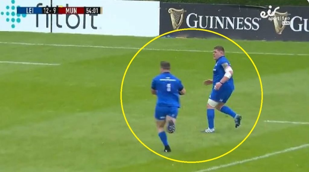 VIDEO: Entire Leinster frontrow finish off try against Munster
