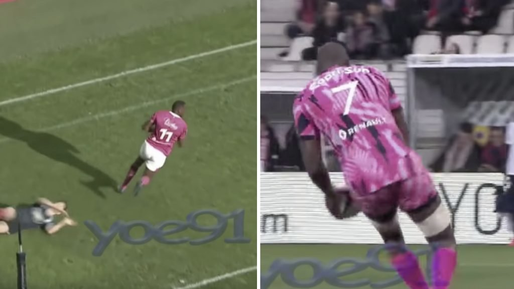 WATCH: A ridiculously fast player has emerged who plays flanker AND winger - Yet France won't pick him