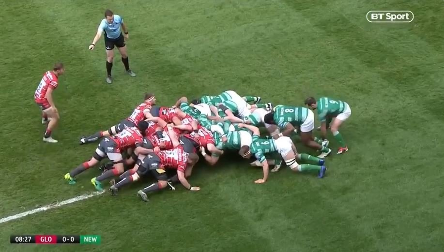 FOOTAGE: Falcons were relegated, but they scored the try of the season today