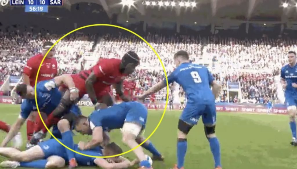 FOOTAGE: Maro Itoje destroys Leinster's game plan with one simple trick
