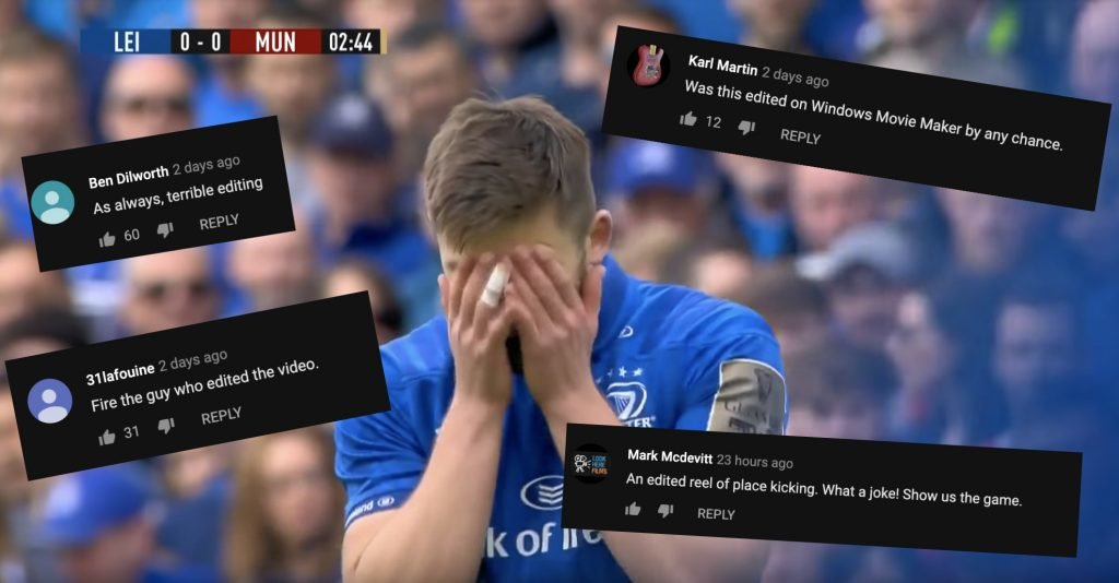 WATCH: People are livid about the shocking highlight reel that the PRO 14 released on Leinster vs Munster