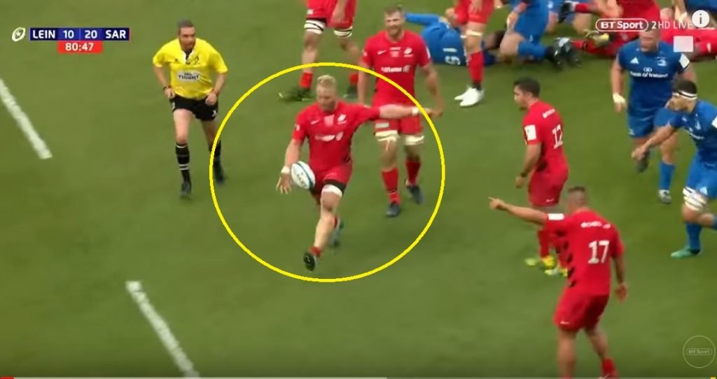 Prop Vincent Kock effectively beats Leinster single handedly with 60m alpha kick