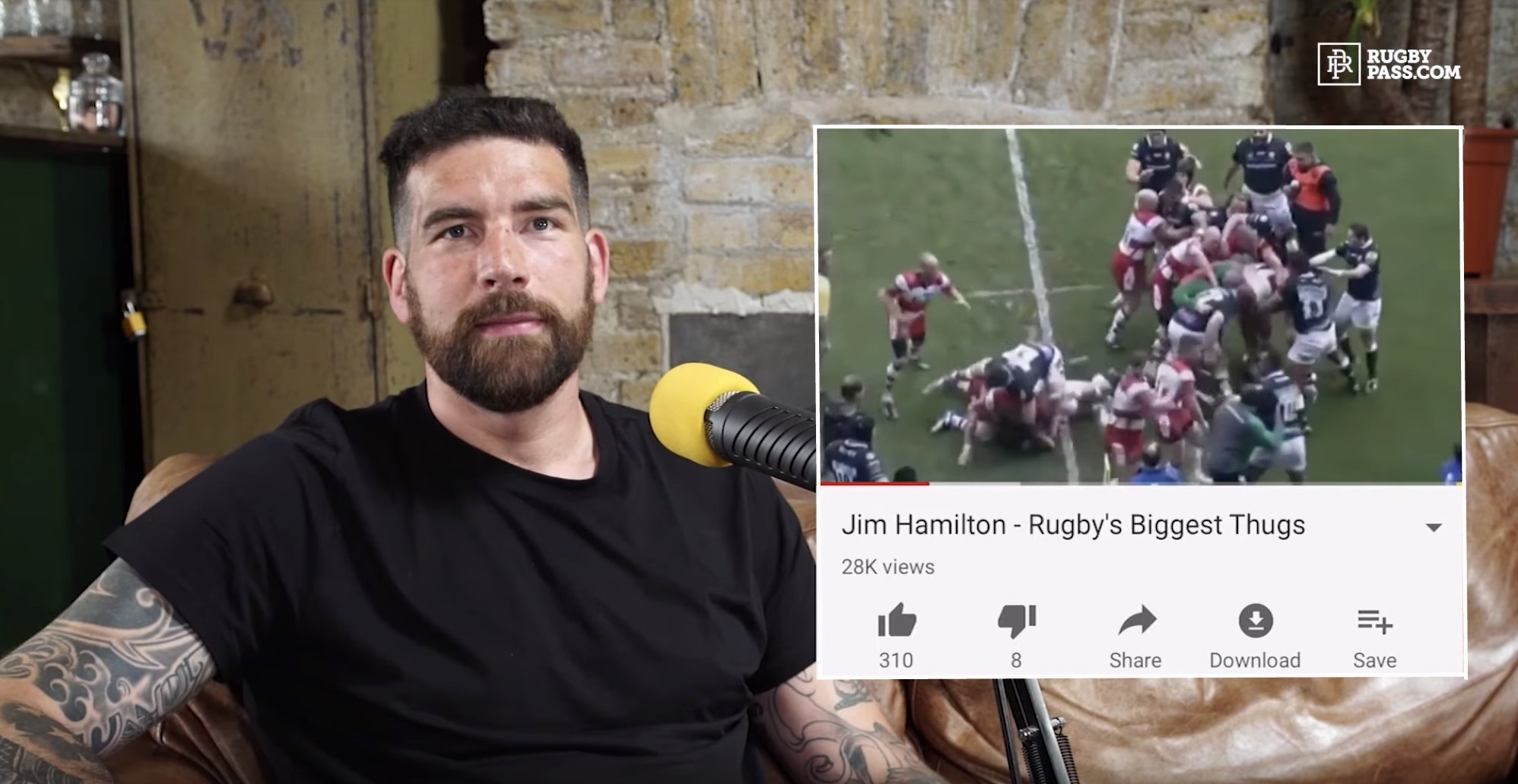 """WATCH: Jim Hamilton reacts to """"THUGGISH"""" compilation that was released about him"""