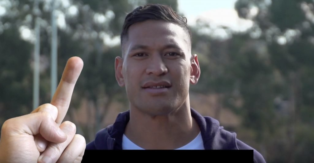 A hilarious edit has been made on the video of Israel Folau begging his followers for money