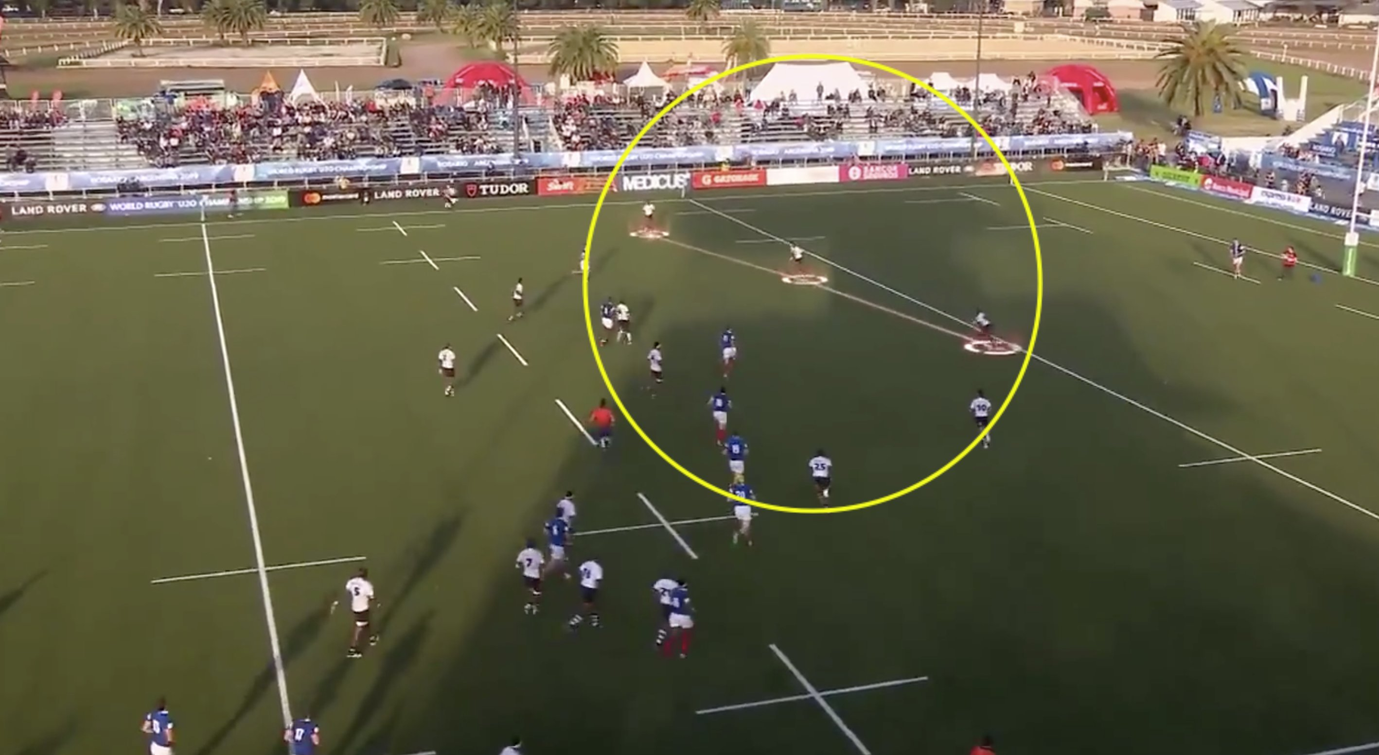 Fijian Under 20's crucify France for giving them about 3 feet of space