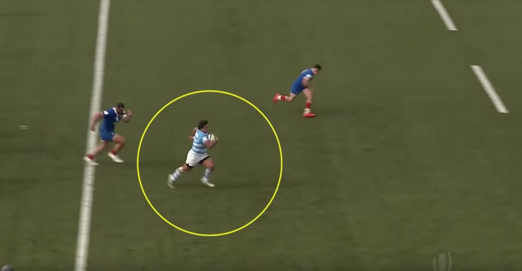 "A Prop being hailed by many as ""Rugby's Maradona"" just scored a 60m solo wonder try"