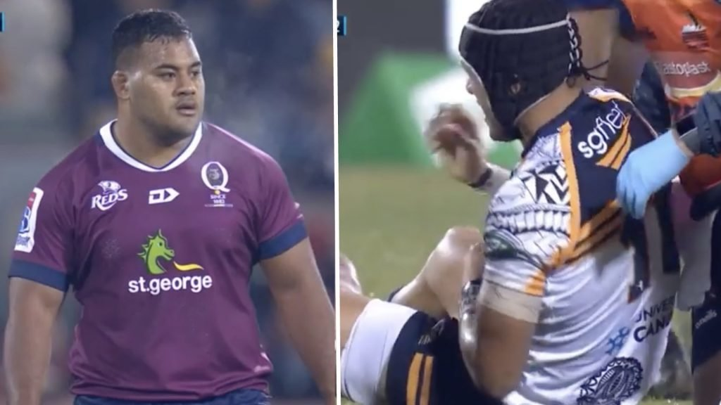 """Tongan Thor"" sent off for massive hit on Christian Lealiifano"