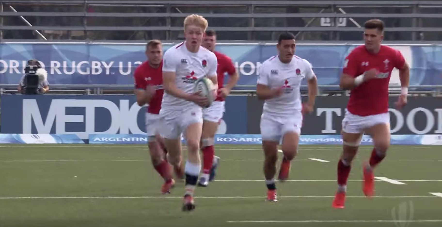 England score stunning counter-attacking try with solo run from Josh Hodge