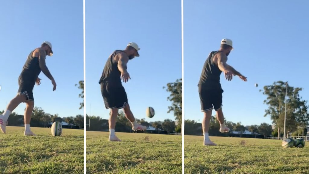 Quade Cooper shows us why he never uses a kicking tee in training