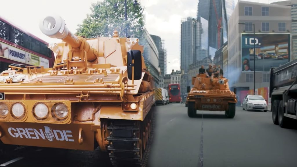 WATCH: James Haskell drives a tank around the streets of London