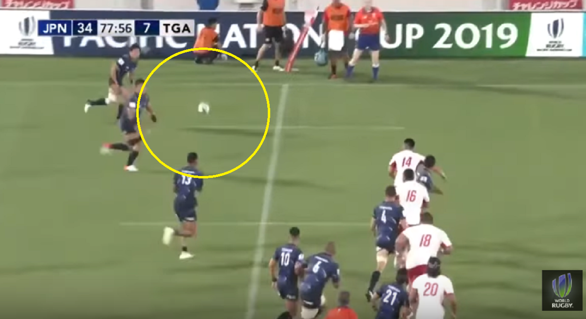 Ireland/Scotland BEWARE: 83kg Kenki Fukuoka steals two Tongans' souls