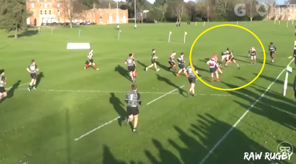 Luke Phoenix has one of the best steps in English schoolboy rugby