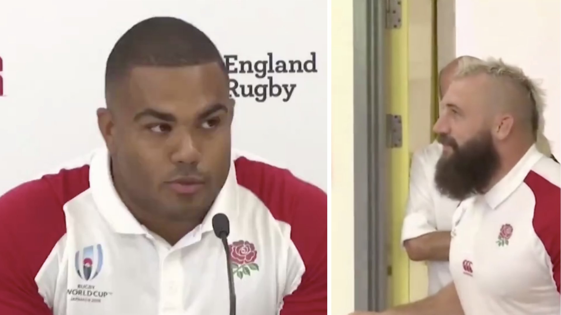 Joe Marler hilariously interrupts England team mates in middle of press conference