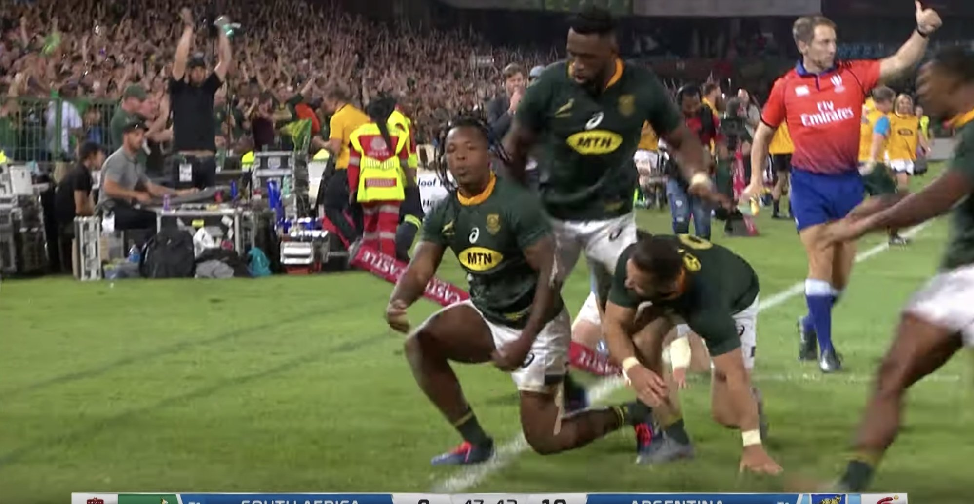 South African winger Nkosi beats three defenders for outrageous solo finish