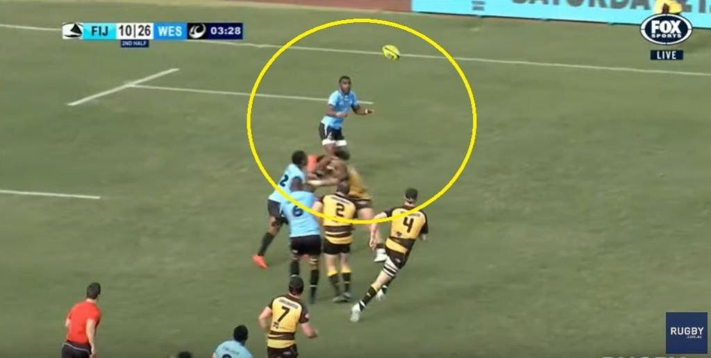 Fijian Drua wing ploughs through player to score 80m try