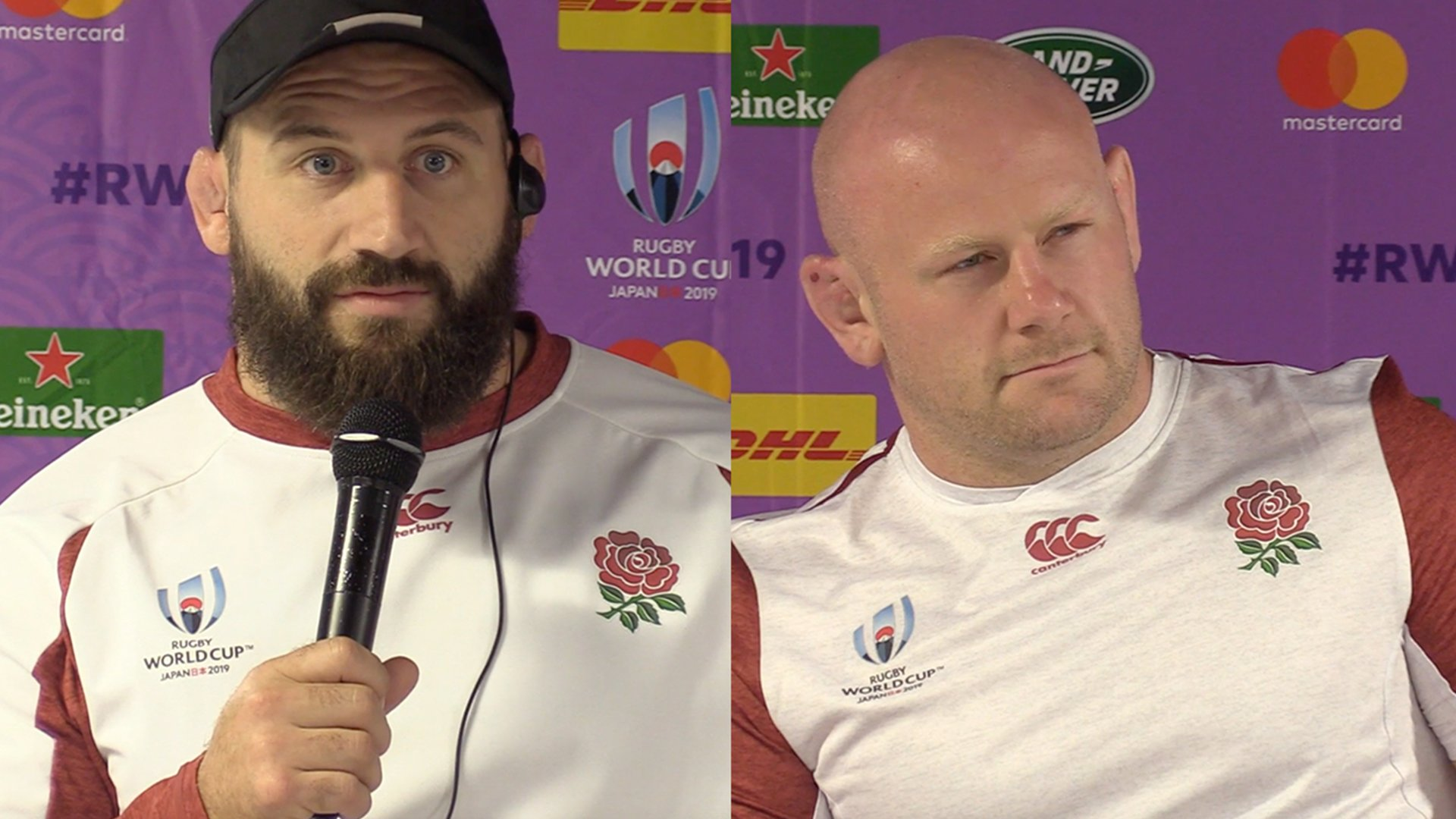 Joe Marler and Dan Cole in jovial moods at World Cup press conference