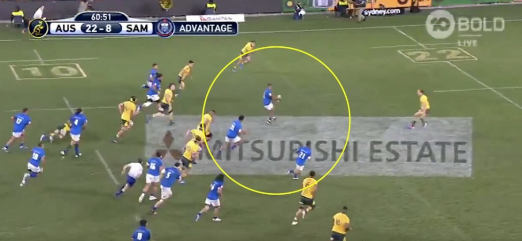 Samoa slice up Australian defence for 2 quick tries