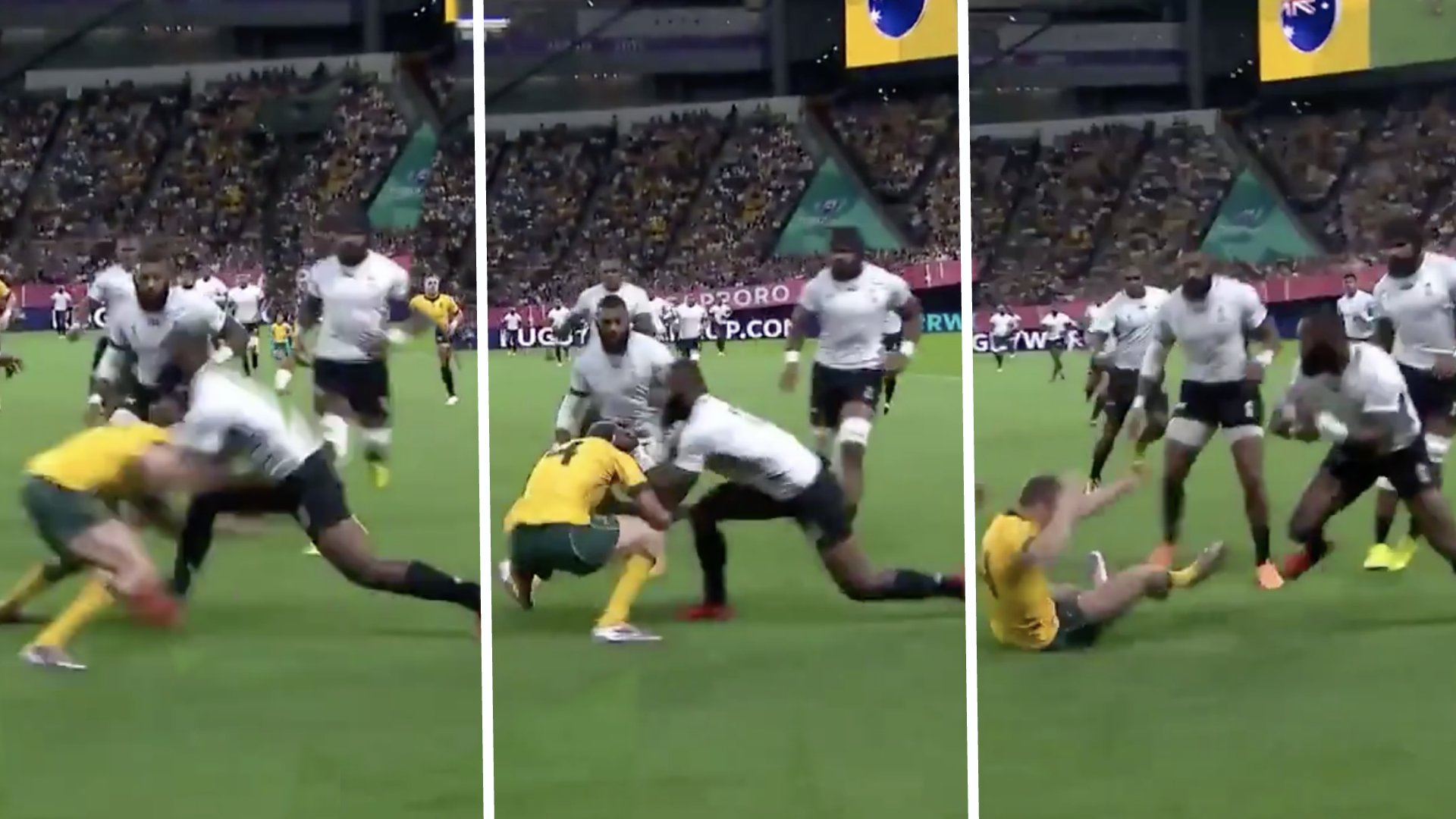 Fiji are BULLYING Australia in their World Cup opener