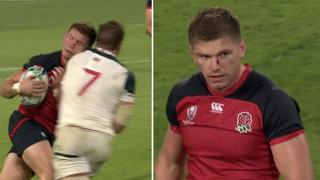 England fans are fuming about this cheap shot on Owen Farrell